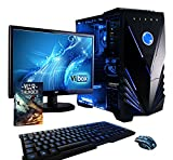 Vibox Standard Paquet 3XS Unité Centrale Gaming Ecran Non Tactile 21,5'(54,61 cm) Néon Bleu (AMD Athlon 64 FX, 16 Go de RAM, 2 to, AMD Radeon R7, Windows 10)