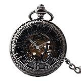 Ying xinguang Pocket Watch Arabia Taschenuhr mechanisch digital Boutique Retro Taschenuhr Schweiz Schwarz mit Kette