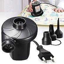 De aire eléctrica, Aodoor Bomba eléctrica Incluyendo 3 Accesorios, con 12 V Coche Adaptador de Alimentación/para Colchones, Camas de Invitados, Piscinas Inflables o Camping