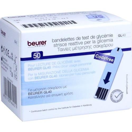 Beurer Blutzucker-Teststreifen (zur Verwendung mit GL 40), 50 Stück preisvergleich