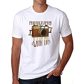 Grafytees Photography is a Love Affair with Life T-Shirt (X-Small)