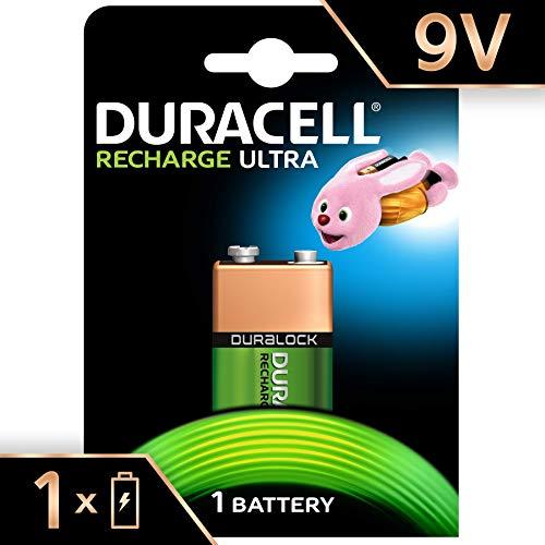 Duracell Recharge Ultra Batteria Ricaricabili, Tipo 9V, 170 mAh, Confezione da 1