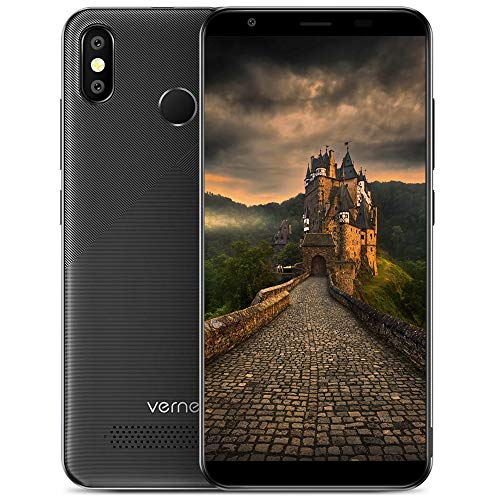 Smartphone Ohne Vertrag, Vernee T3 Pro Android 8.1 Dual SIM 4G Handy, 4080 mAh Große Batterie, 13MP+2MP Haupt/5MP Frontkameras, 3GB RAM 16GB ROM, 5,5 Zoll HD-Display, Face-ID & Fingerabdruck (schwarz)