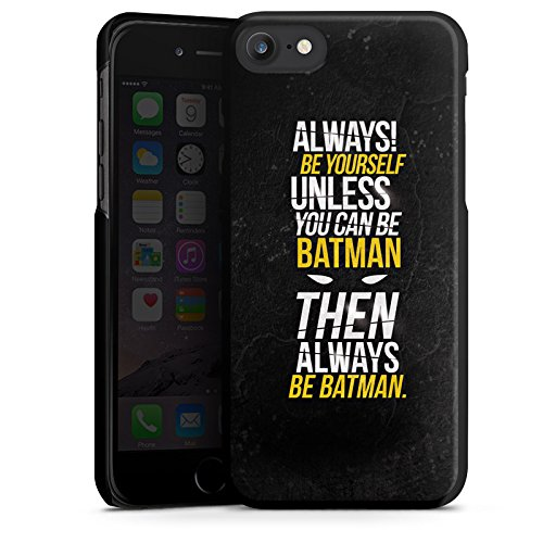 Apple iPhone 7 Hülle Case Handyhülle Batman Sprüche Statement Hard Case schwarz