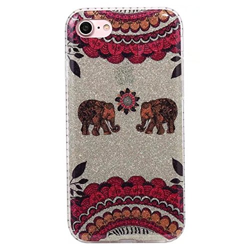 Housse pour Apple iPhone 7, Coque Pour IPhone 7 Glitter Rhinestone Resin Soft Gel TPU Cover Case pour Apple iPhone 7 ( Color : F ) A
