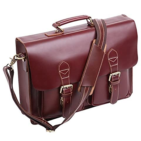 Leathario Mens Full grain leather Leather Briefcases Laptop Tote Bags High Quality Handmade shoulder bags 100%genuine Leather Handbag Messenger