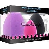 EmaxDesign Set de 3 esponjas para aplicar maquillaje, corrector, polvo, crema y colorete, sin látex, hipoalergénicas e inodoras