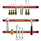 Best Garage Racks - GYMAX 3PCS 46CM/18 Magnetic Tool Holder Set Tools Review