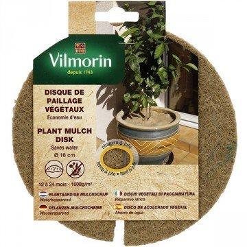 Vilmorin - Disque de paillage végétaux 1000g/m² - Ø 30cm