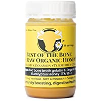 Premium Beef Bone Broth Gelatin Honey, Turmeric, Ginger - Supports Joint Health, Boost Immunity - Fresh, Natural Ingredients for Delicious Paleo & Gluten Free Diet Friendly Broth Soup Stock