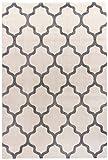 Modern-klassischer Hochwertiger Teppich Dream Natural Unity White marokkanisch grau weiß pflegeleicht strapazierfähig in 3 Größen für Wohnzimmer oder Schlafzimmer (160 x 230 cm)
