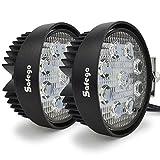 safego 12V 24V 27W LED luces de trabajo lámpara para camión Offroad 4x 4atv Tractor 60Degree inundación haz 27wr-fl Pack de 2