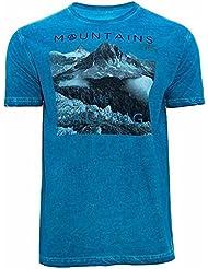 Camiseta GORLI, Hombre, Azul, Manga corta (L)