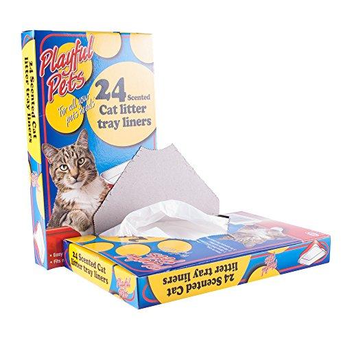 24unidades bandeja para arena de gato, perfumadas desechables bolsas blanco 66cm x 30cm