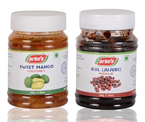 Arkos Kul (Jujube) Pickle and Sweet Mango Chutney (200 grams...