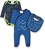 Twins Baby-Jungen Bekleidungsset Starter-Kit Sleeping Dino 3 tlg., Mehrfarbig (Mehrfarbig 3200), 80