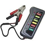 fomccu battery alternador comprobador de instrumentos de medición de energía de la batería para coche motocicleta camiones 12V