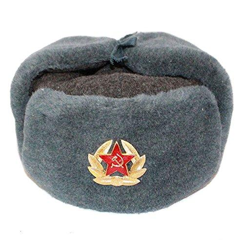 COLBACCO LANA IN DOTAZIONE ESERCITO RUSSO ORIGINAL SOVIET USHANKA - Taglia disponibile: 56(M)
