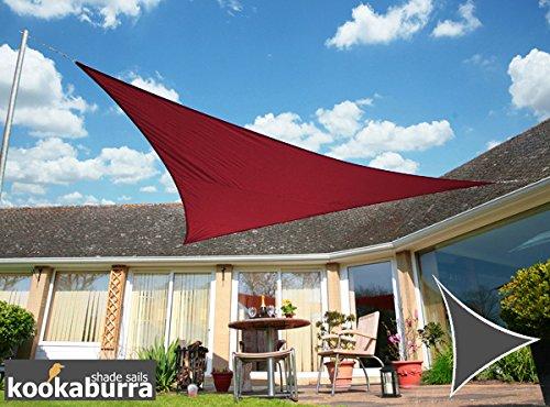 Kookaburra Wasserfest Sonnensegel 5,0m Dreieck Weinrot