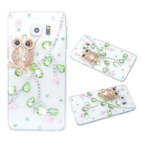 Preisvergleich Produktbild spritech (TM) 3D Handmade Fashion Kristall Strass Bling Tasche Case Cover Klar Hard Case für Samsung Galaxy Note Edge