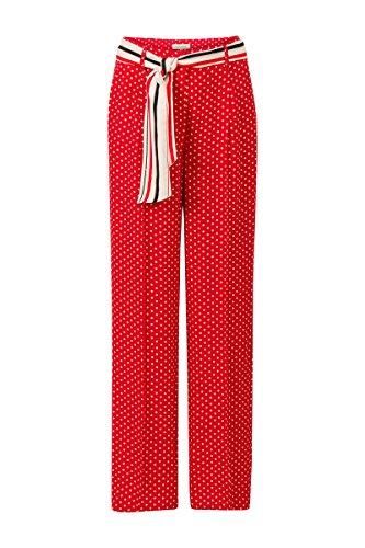 Promiss - Pantalón - Recto - Lunares - para Mujer Rojo 44