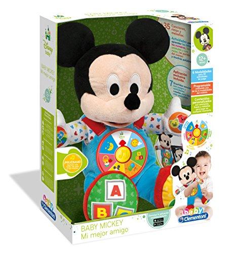 Clementoni- Disney Peluche Interactivo Mickey Mi Mejor Amigo (55132.3)