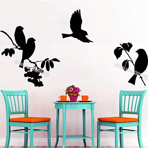 yaoxingfu Vogel Hub Wandtattoo AST Aufkleber Wohnkultur Baby Kindergarten Kinderzimmer Wohnzimmer Büro Abnehmbare Kunstwand schwarz 80x42 cm -