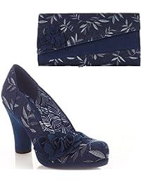 Oxford Navy Ruby Shoo Clutch Bag to Match Charlotte Shoes Ruby Shoo jfttmWM