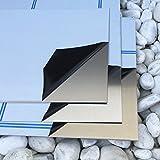 Alublech 1,0 mm Aluminiumblech ALMg3 Zuschnitt inkl Folie, Größe nach Maß Alu Neu (500 mm x 100 mm)