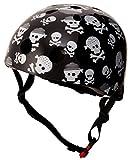 Kiddimoto 2kmh043s - Design Sport Helm Skullz, Pirat Gr. S für Kopfumfang 48-53 cm, 2-5 Jahre