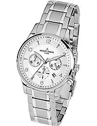Jacques Lemans Herren-Armbanduhr XL London Chronograph Quarz Edelstahl 1-1654J