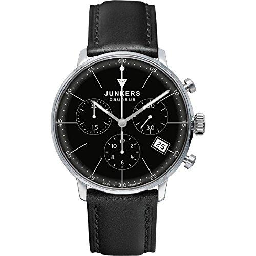 Junkers Damen Chronograph Quarz Uhr mit Leder Armband 60892