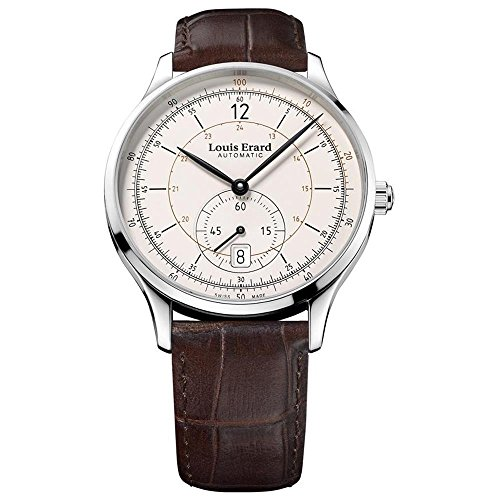 LOUIS ERARD MEN'S 1931 40MM BROWN LEATHER BAND AUTOMATIC WATCH 33226AA11.BDC80