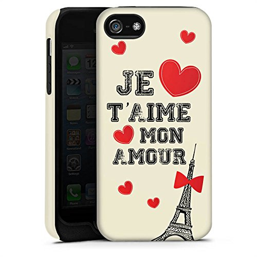 Apple iPhone X Silikon Hülle Case Schutzhülle Herz Spruch Mon Amour Tough Case matt