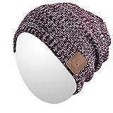 Qshell Wireless Bluetooth Beanie Hut Mütze mit Musikphone Speakerphone Stereo Kopfhörer Headset Kopfhörer Lautsprecher Mic für Fitness Outdoor Sport Skifahren Running Skating , Weihnachtsgeschenke
