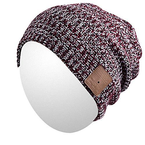 Qshell Slouchy Skully Bluetooth Beanie della protezione del cappello con la  cuffia wireless Bluetooth Auricolare Musica d2ec7d27694d