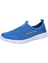 ALIKEEYLos Hombres La Luz De Malla Transpirable Zapatos Zapatillas Casual Caminar Zapatos De Deporte Al Aire
