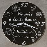 Horloge Je t'aime Mamie - Cadeau original pour Papi et Mamy - Fête des Grands mères, Anniversaire, Noël.)...