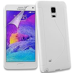 Connect Zone® Samsung Galaxy Note 4différents Housse étui coque en gel silicone + Film protecteur d'écran + chiffon de nettoyage