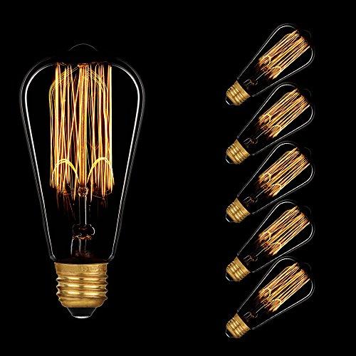Paulmann Glühbirne Rustika 40W E27 Vielfachwendel ähnlich Kohlefadenlampe 550.40 Retro Nostalgie Vintage Glühlampe extra warmweiß dimmbar (5 Stück)