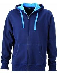 JAMES & NICHOLSON Sweatjacke Men's Hooded Jacket - Sweat-shirt - Homme