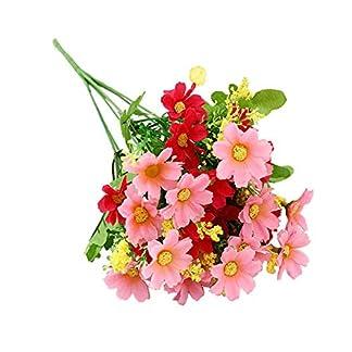 Chytaii. Ramo Artificiales De Margarita Flores Artificiales Decorativas para Decoración De Jardín Boda o Casa