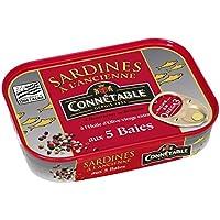 Connétable Sardines à l'ancienne à l'huile d'olive vierge extra aux cinq baies La boîte de 115g - Prix Unitaire...