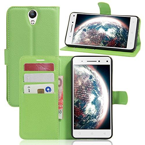 Easbuy Pu Leder Kunstleder Flip Cover Tasche Handyhülle Case Mit Karte Slot Design Hülle Etui für Lenovo Vibe S1 Lite Smartphone Handytasche