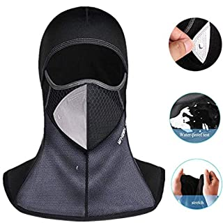 Ailiebhaus 5 Pack Sports Balaclava Full Face Mask Outoor Neck Bandanna for Motor Ski Cycling, Black