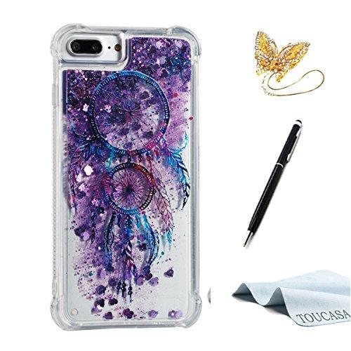 002cec4cf15 TOUCASA Funda iPhone 8 Plus,Funda iPhone 7 Plus, Glitter Liquida  Transparente TPU Silicona