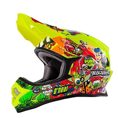 O'Neal 3series MX Crank 0623-48 Casco amarillo neón Hi-Viz,Motocross, Enduro, Quad, Offroad, Cross, amarillo, S (55/56 cm)