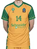BIGSPORTS Replica Eurocup Limoges Csp Conklin 14 Surmaillot Basketball Homme, Jaune/Vert, FR : L (Taille Fabricant : 10 Ans)