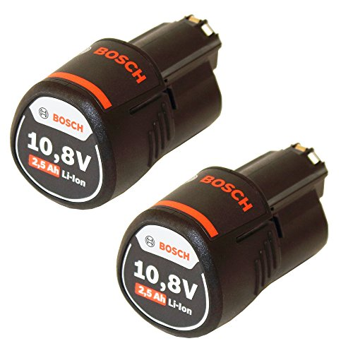 Preisvergleich Produktbild Doppelpack Bosch Ersatzakku 10,8V/2.5 Ah Einschub-Akku im Originalkarton