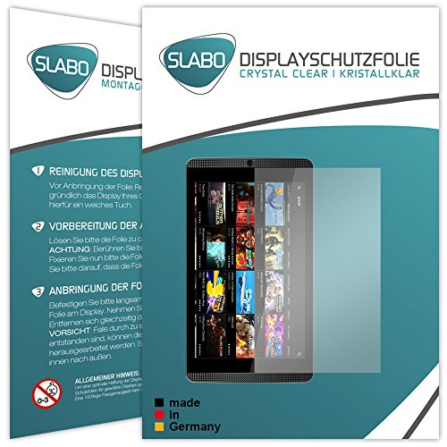 Slabo 2 x Bildschirmschutzfolie Nvidia Shield K1 Bildschirmschutz Schutzfolie Folie Crystal Clear unsichtbar Made IN Germany